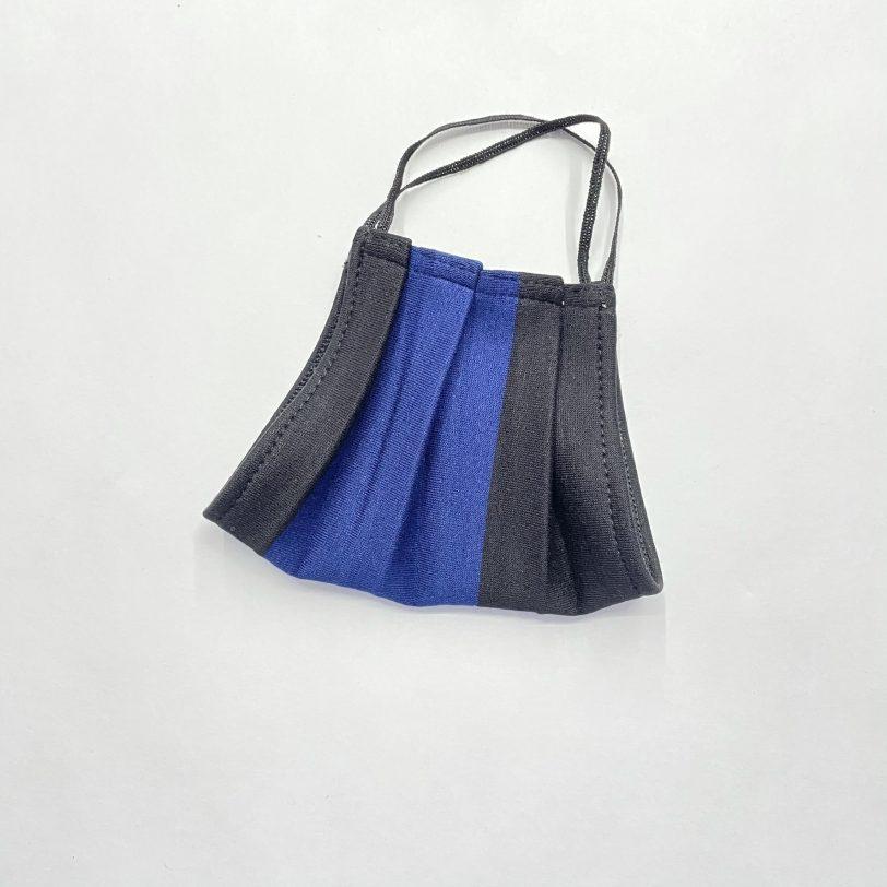 Mascherina lavabile Nero-azzurra