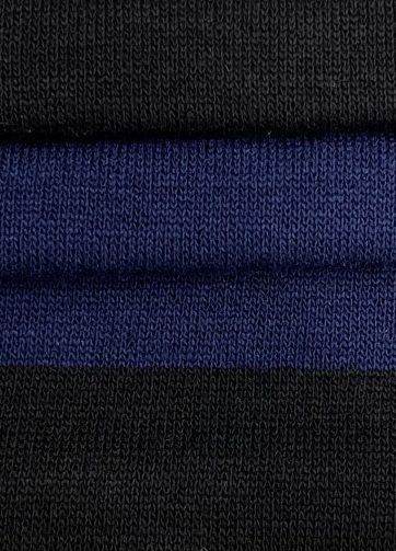 Mascherina lavabile Nero-azzurra dettagli